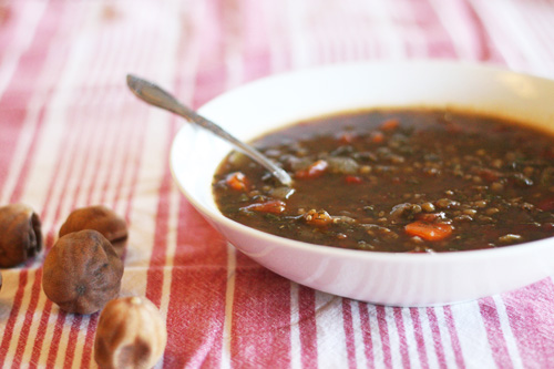 persian black lime and herb soup rezas