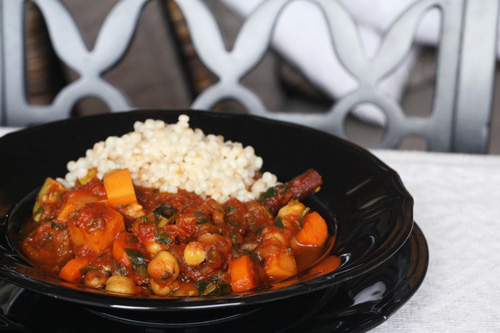 chickpea and sweet potato tagine with apricots